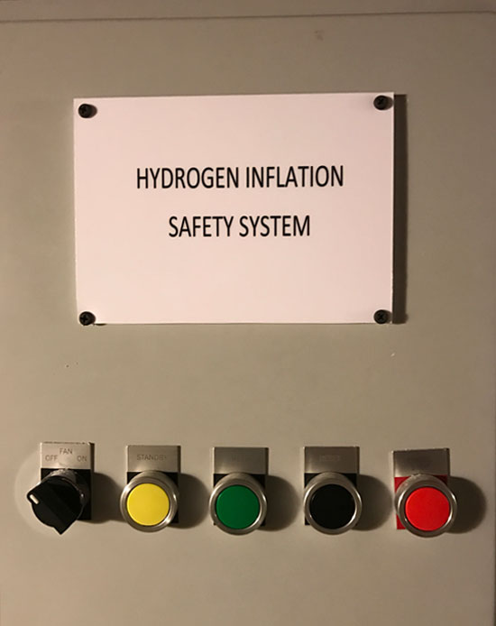 Hydrogen Inflation Safety System Controller